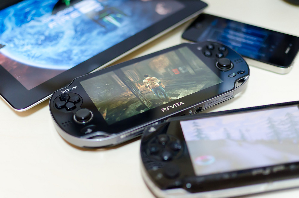 Sony PlayStation Vita, also known as the PSP (PlayStation Portable)