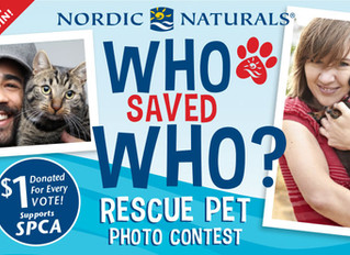 Nordic Naturals Who Saved Who? Rescue Pet Photo Contest