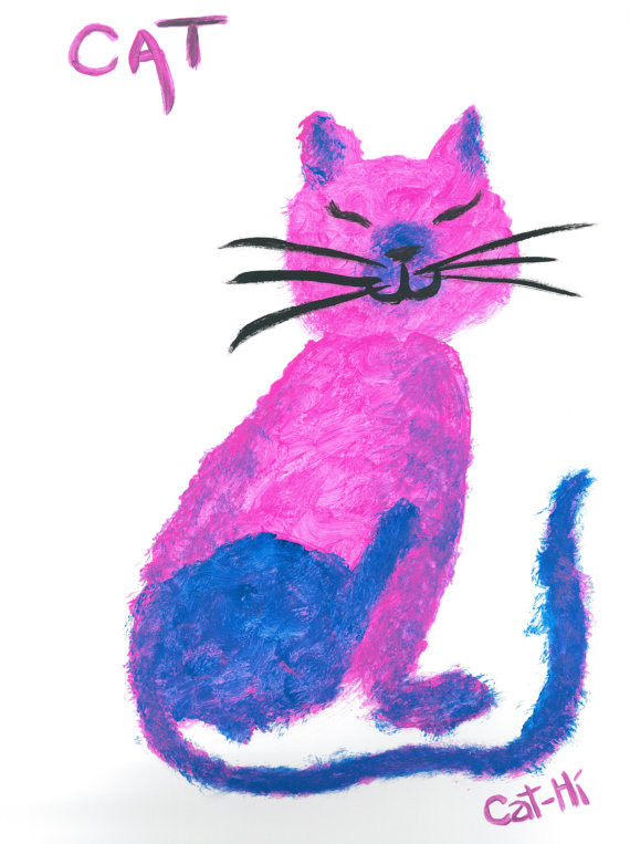 Pink Cat Scratching