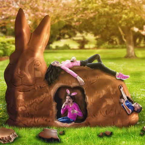 happy easter, big easter bunny, easter chocolate bunny, easter eggs, easter photography, children photographers sydney