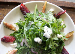 Baby Arugula with Blood Oranges, Figs, G