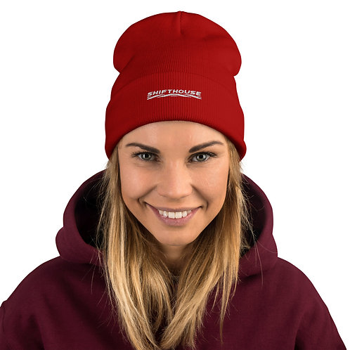 Shift House Embroidered Beanie