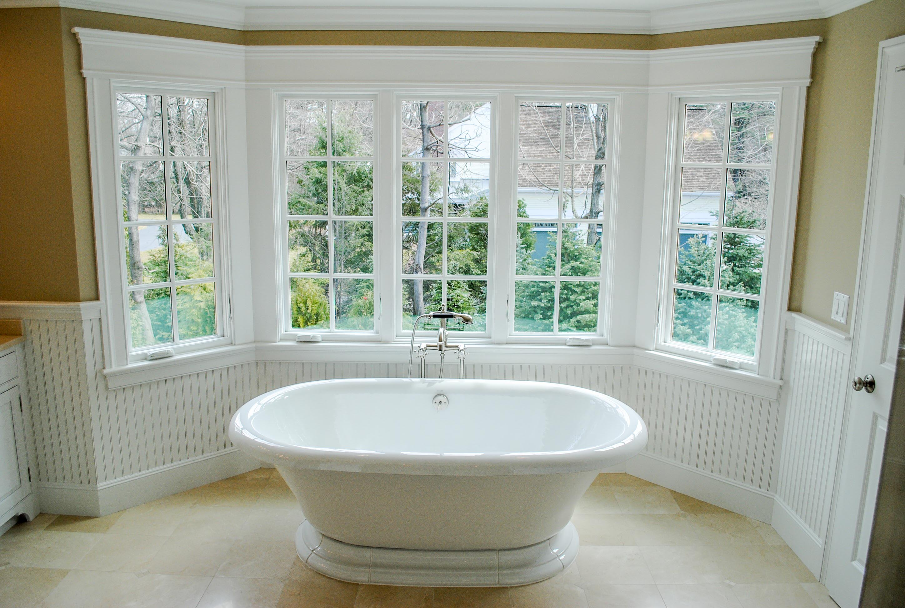 Soaking Tub In Marble Bath Wayland