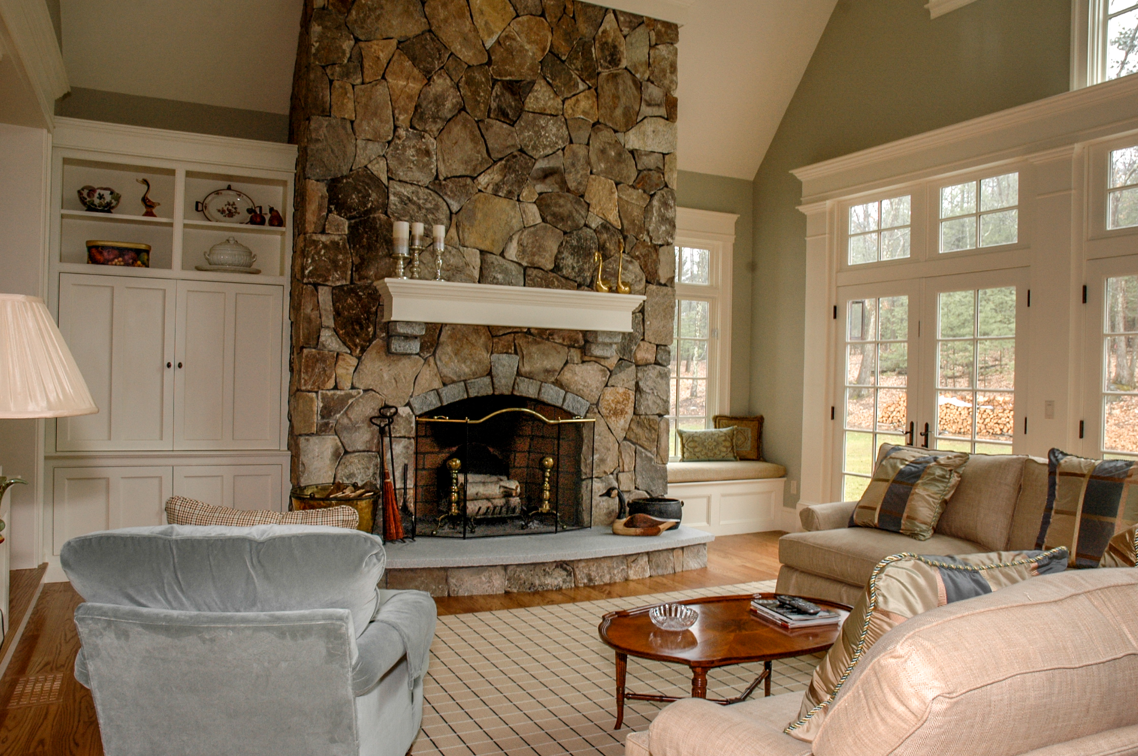 Fieldstone Fireplace Acton