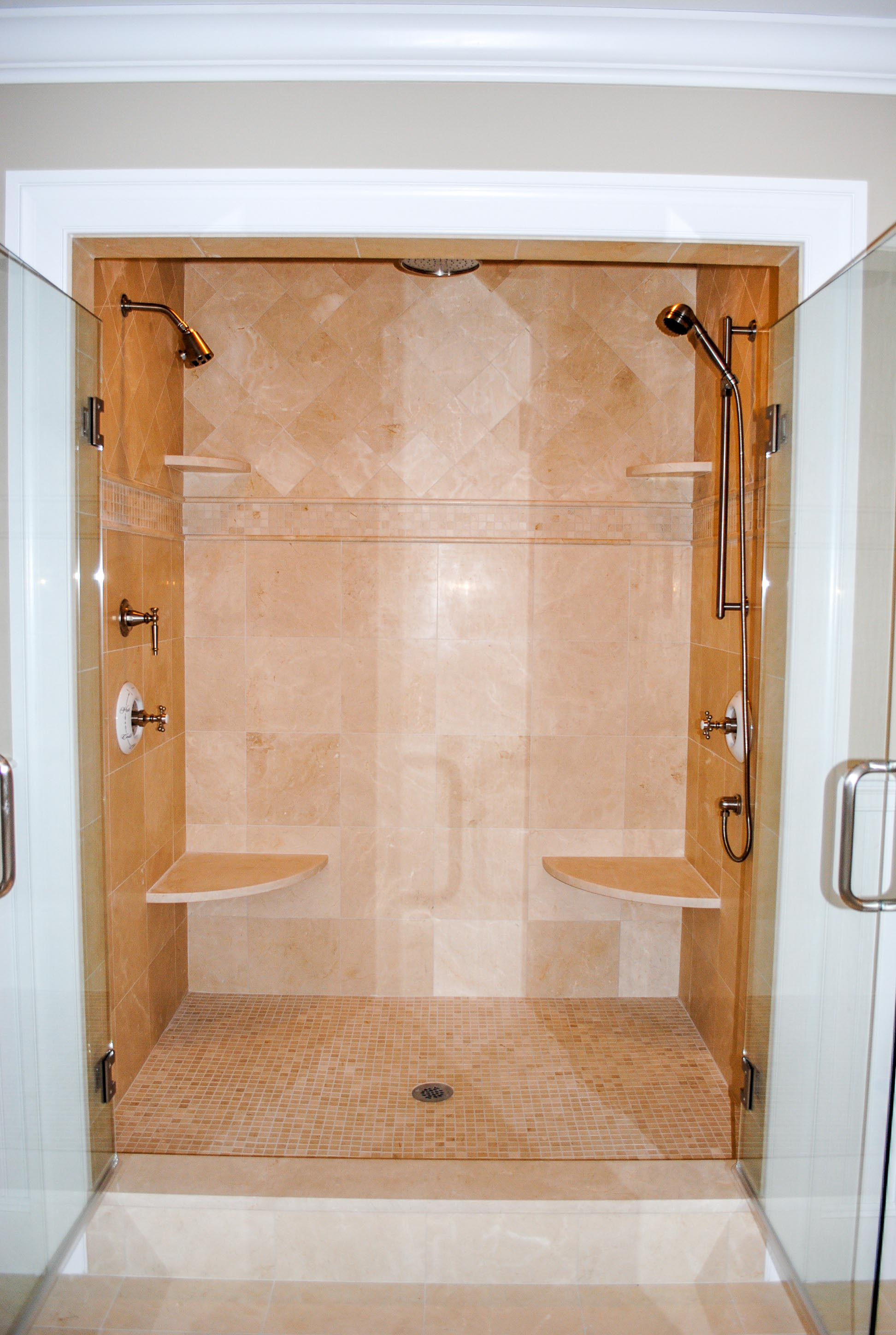 Custom Marble Shower Wayland