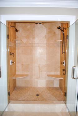 Custom Marble Shower Wayland