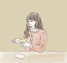 新宿駅前ひまわりレディースクリニック ピルを飲む女性