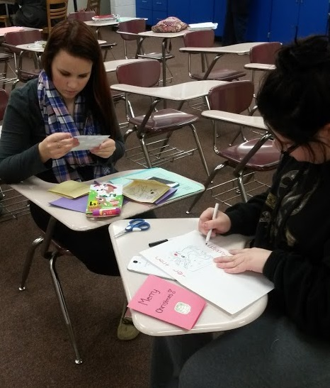 Making cards for hospitalized kids
