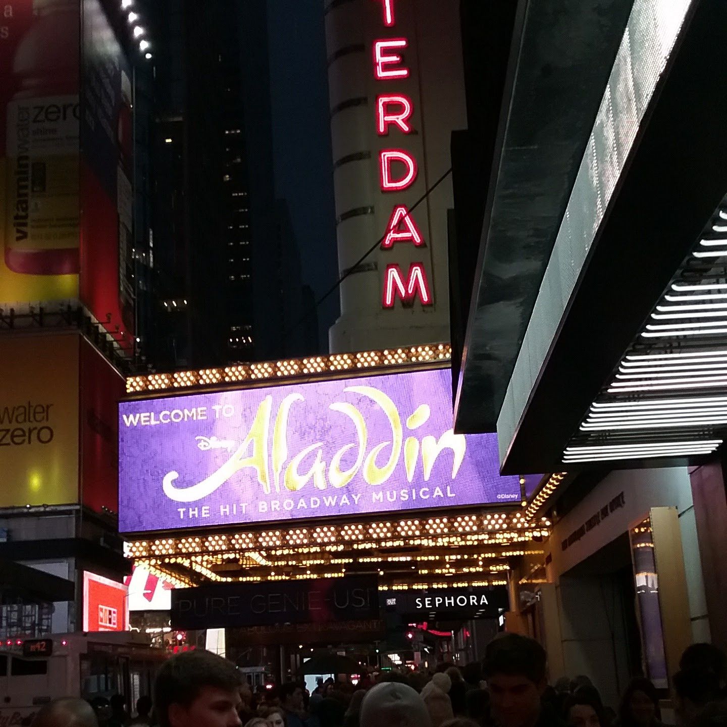 Aladdin at the New Amsterdam Theatre on Broadway