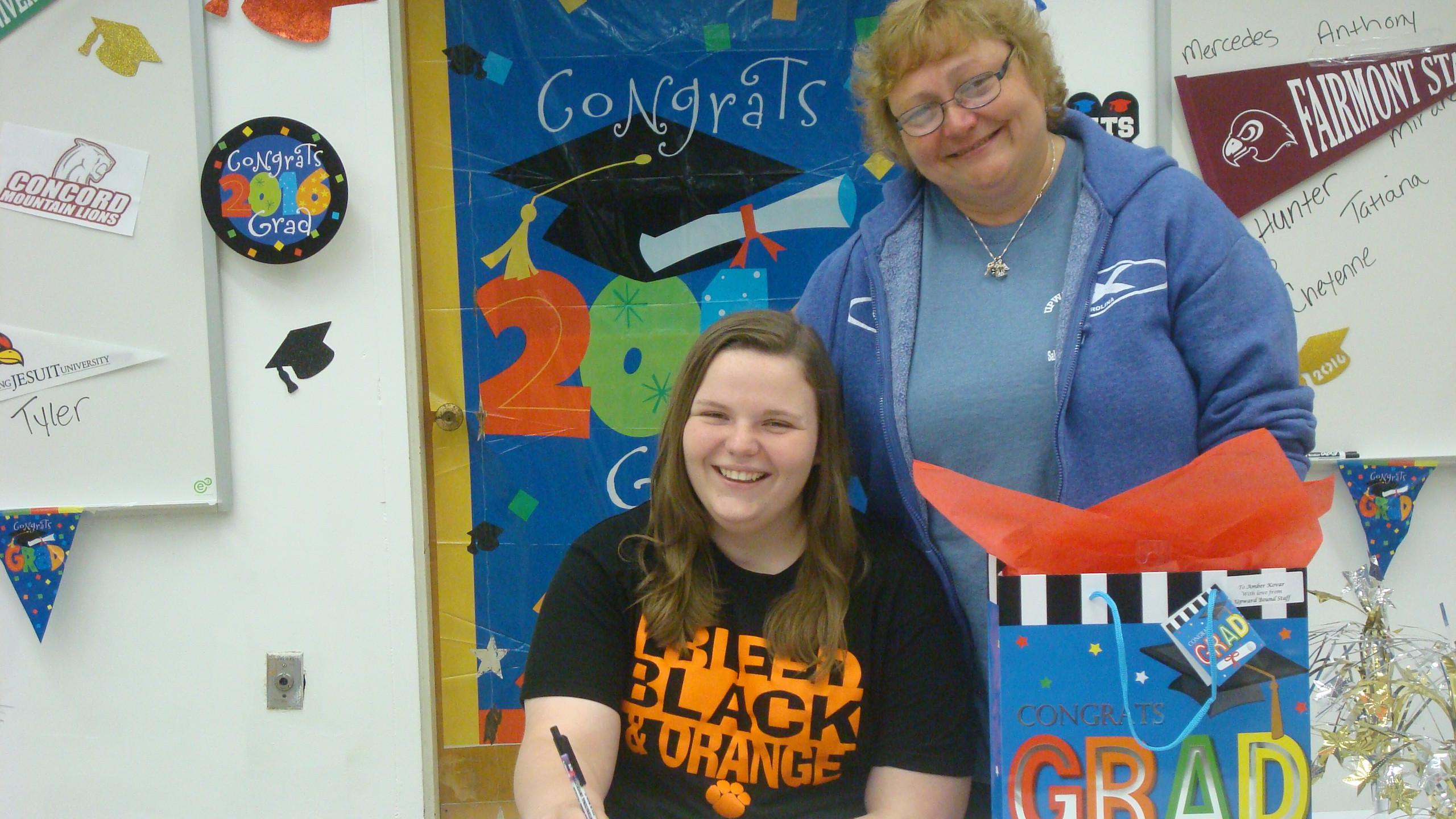 Amber will be attending West Virginia Wesleyan College