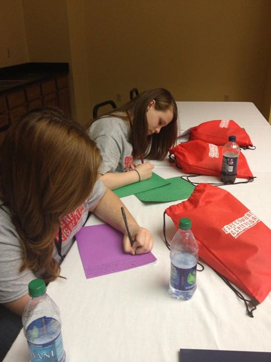 Writing letters to our Senators in support of TRiO Programs