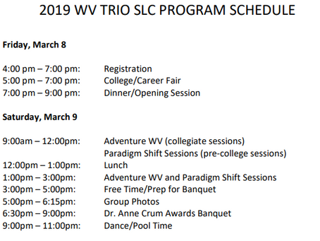 2019 WV TRIO Student Leadership Conference