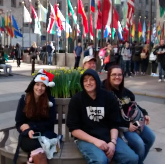 Hanging out in Rockefeller Plaza