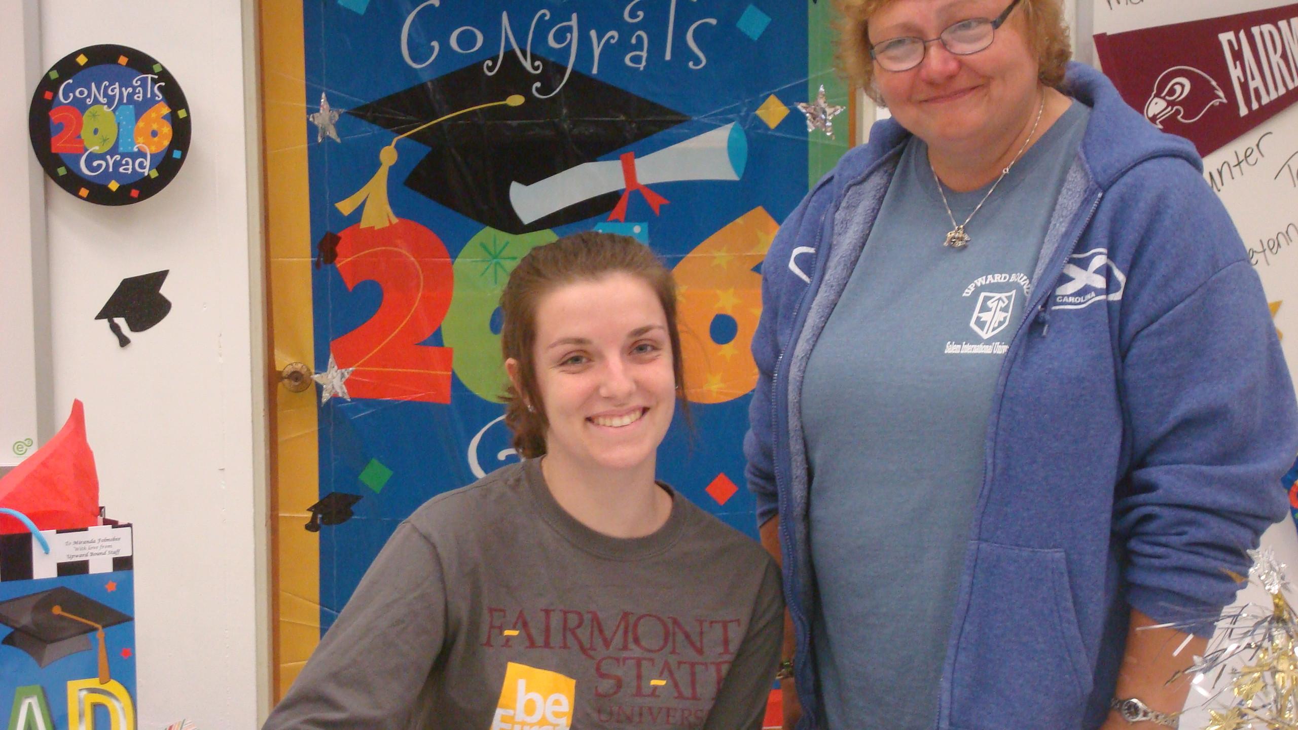 Miranda will be attending Fairmont State University