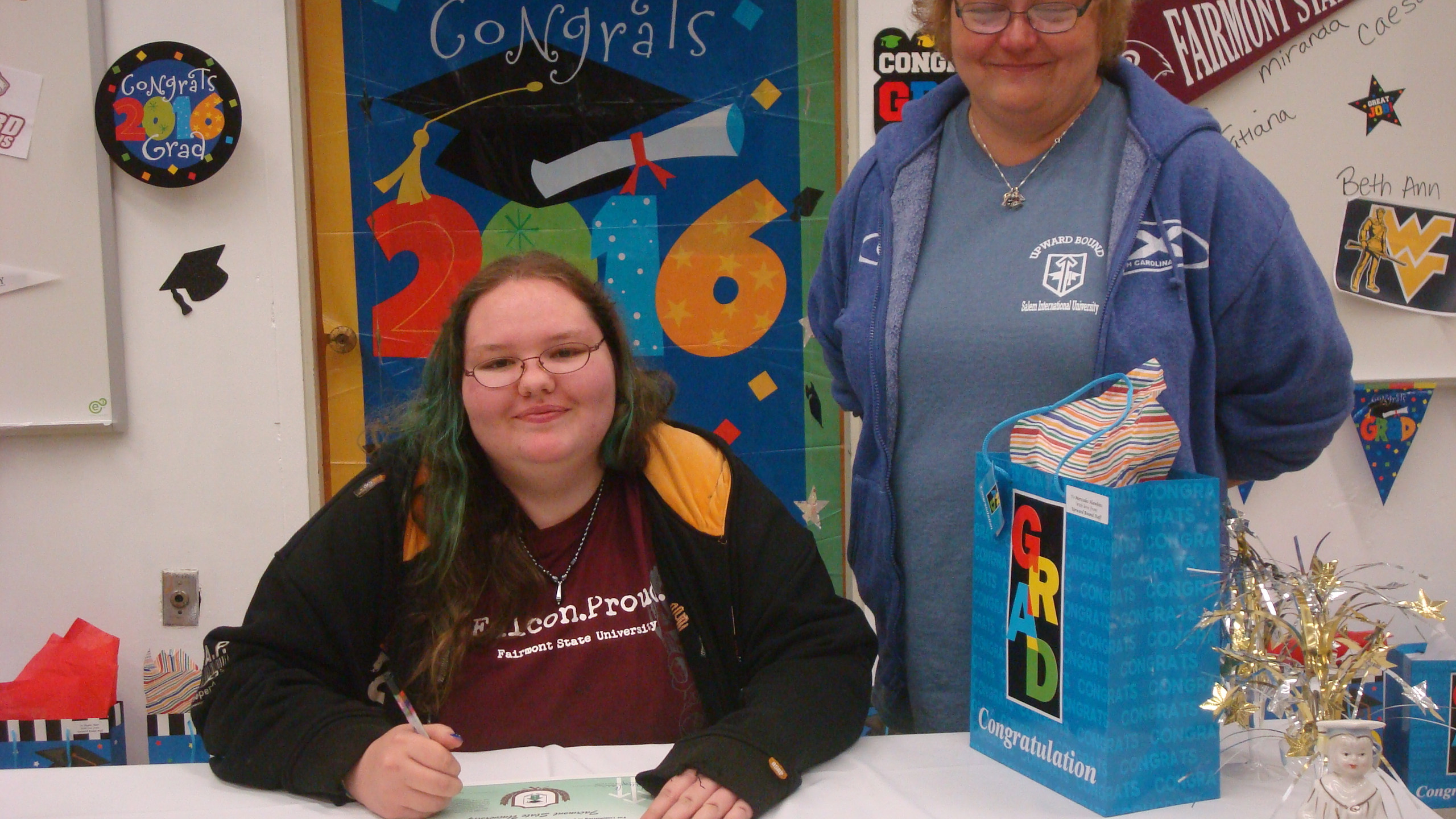 Mercedes will be attending Fairmont State University
