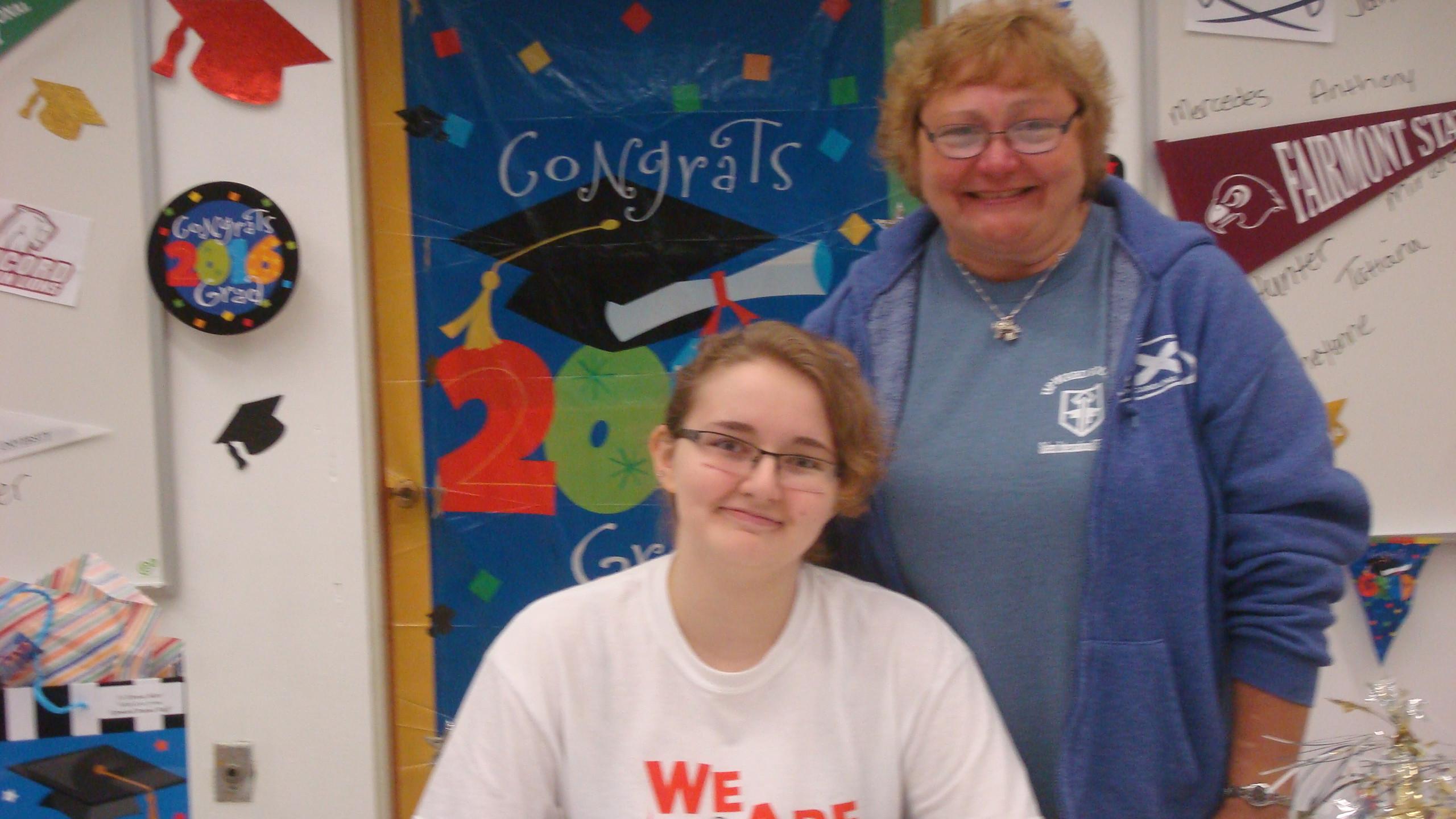 Teresa will be attending Davis & Elkins College