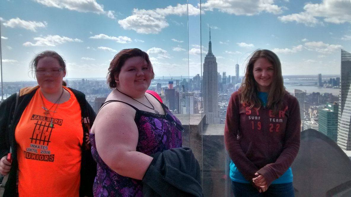 """Some students enjoying the majestic views from the """"Top of the Rock"""""""