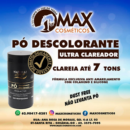 Pó Descolorante Ultra Clareador Anti Amarelamento500g