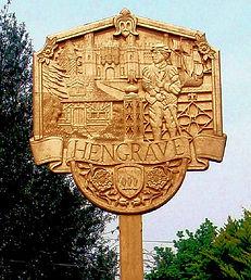 Hand Carved Village Sign