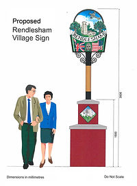 Proposed Rendlesham Village Sign Drawing