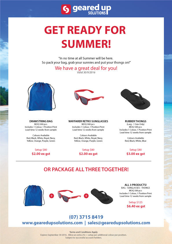 Get Ready for Summer Deal!