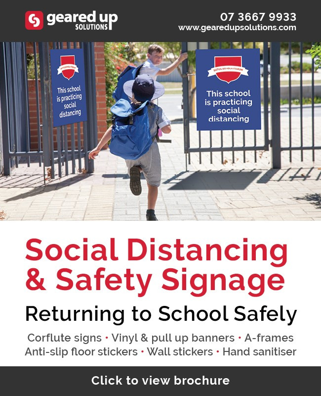 Returning to School Safely - Social Distancing Safety Signage & Supplies