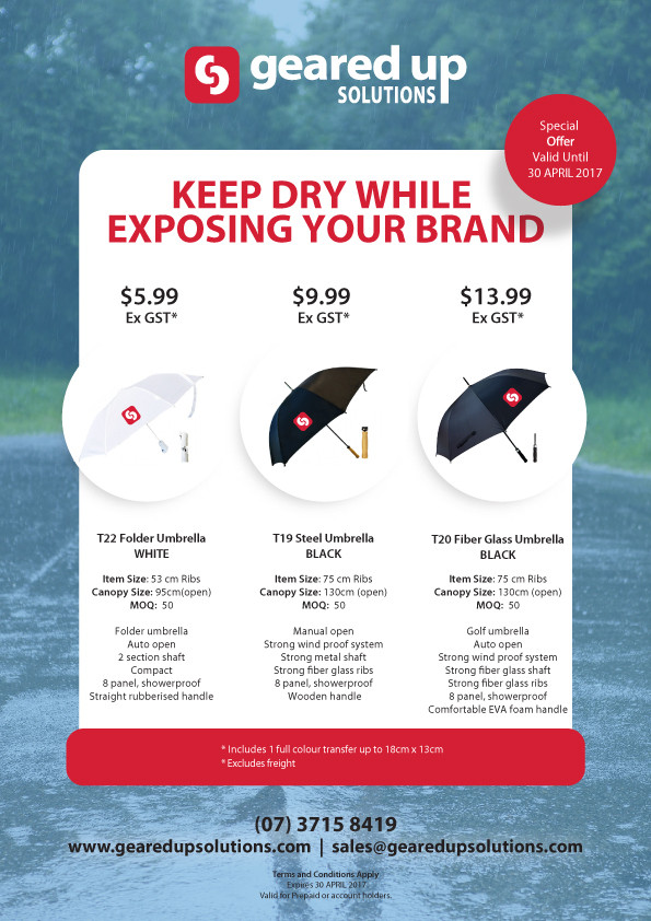 Keep Dry While Exposing Your Brand!