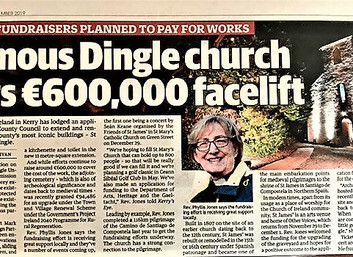Major fundraisers planned to pay for works on Dingle's iconic church.