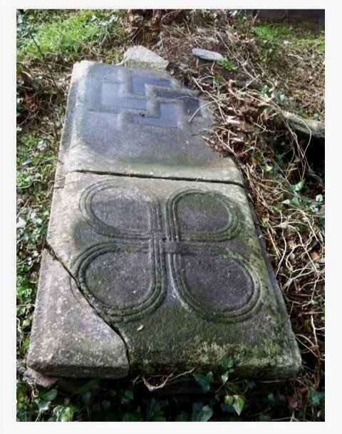 Medieval Grave Slab with Quatrefoil