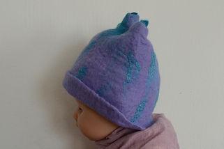 Chapeau/Bonnet pour bébé en feutre fait main par Rasmania