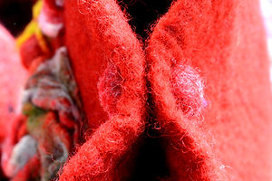 Red Bag/ Sac Rouge hand made by Rasmania