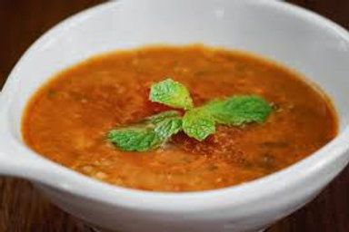 Spicy Lentil, Spinach and Celariac Soup (VG)