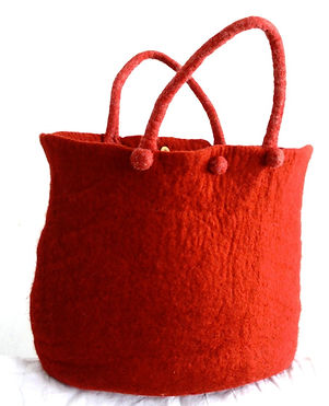 Red Bag/ Sac Rouge hand made by Rasmania