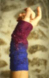 mitaines originales, fait main par Rasmania, laine feutrée