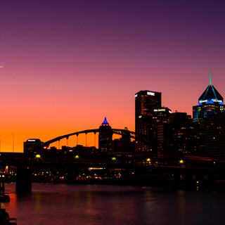 Ochre and Downtown Pittsburgh