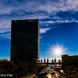 The UN Building After Sunrise