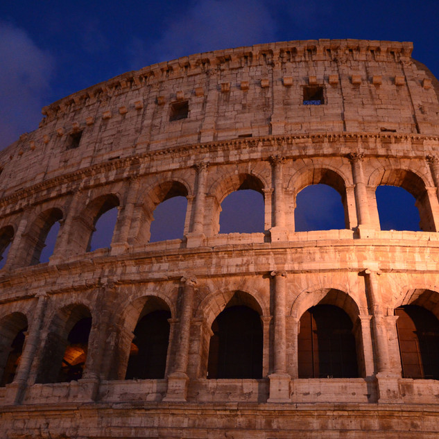 The Coliseum in Rome at Twilight