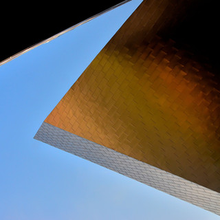 Angled Lines and Blue Sky