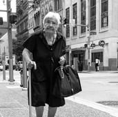 Old Woman Walking
