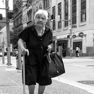 Old Woman Walking