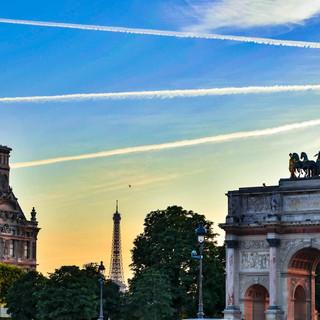 Contrails Over Paris