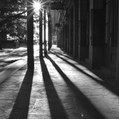 Morning Shadows in Jackson Square