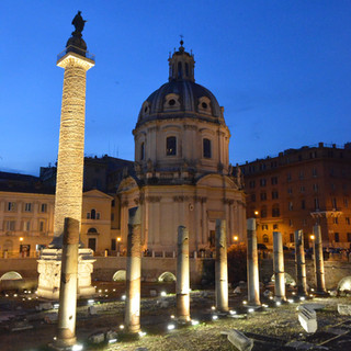 The Forum in the Blue Hour