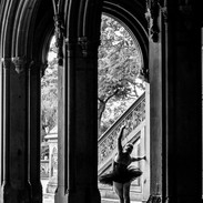 The Ballerina Amidst Arches