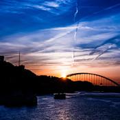 Blue Sunset over Fort Pitt Bridge