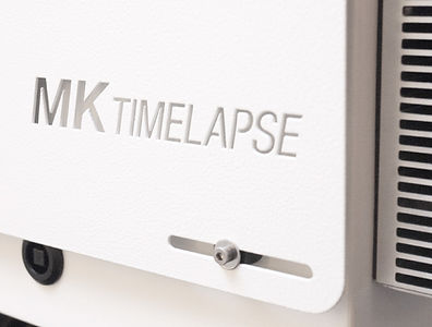 MK timelapse logo on camera housing