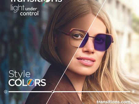Samozabarvovací brýlové čočky Transition