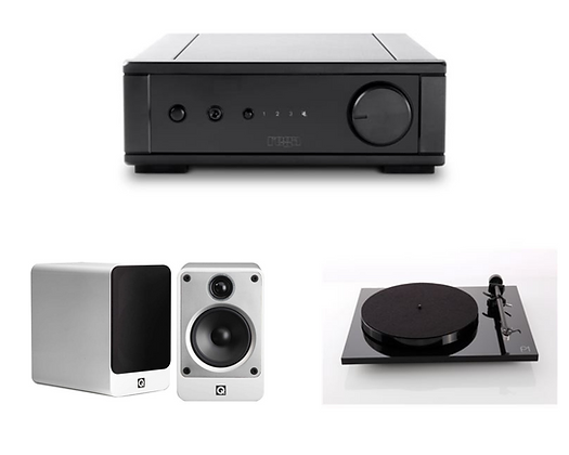 Ampli Rega io | Hp Q-Acoustics Concept 20 | Td Rega Planar  1 plus