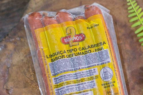 LINGUIÇA TIPO CALABRESA FINA - PACOTE 400g