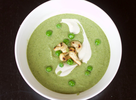 Cold Pea~Cucumber~Mint soup recipe from our kitchen to yours!